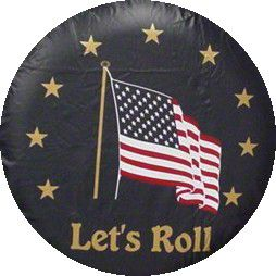 Let's Roll Spare Tire Cover - Navy (87-18 Jeep Wrangler YJ, TJ, JK & JL)