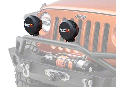 Rugged Ridge 6 in. HID Off-Road Light Cover - Black (87-19 Jeep Wrangler YJ, TJ, JK & JL)
