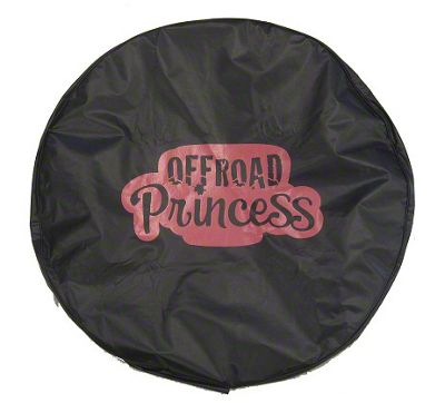 Pink Off-Road Princess Spare Tire Cover (87-18 Jeep Wrangler YJ, TJ, JK & JL)