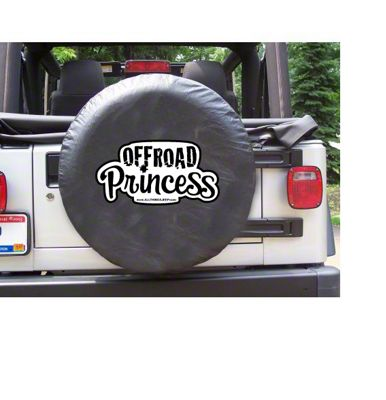 White Off-Road Princess Spare Tire Cover (87-18 Jeep Wrangler YJ, TJ, JK & JL)