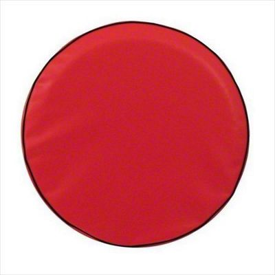 Spare Tire Cover - Solid Red (87-18 Jeep Wrangler YJ, TJ, JK & JL)