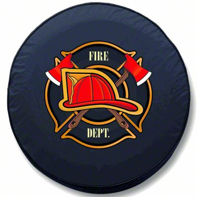 Fire Department Spare Tire Cover (87-18 Jeep Wrangler YJ, TJ, JK & JL)
