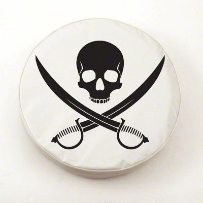 Jolly Roger Spare Tire Cover - White (87-18 Jeep Wrangler YJ, TJ, JK & JL)