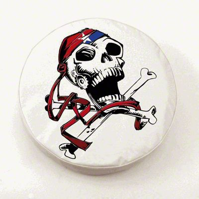USA Pirate Spare Tire Cover - White (87-18 Jeep Wrangler YJ, TJ, JK & JL)