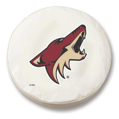 Arizona Coyotes Spare Tire Cover - White (87-18 Jeep Wrangler YJ, TJ, JK & JL)