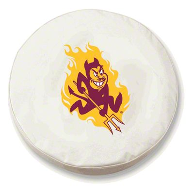 Arizona State Spare Tire Cover - White (87-18 Jeep Wrangler YJ, TJ, JK & JL)