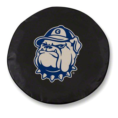 Georgetown University Spare Tire Cover - Black (87-18 Jeep Wrangler YJ, TJ, JK & JL)