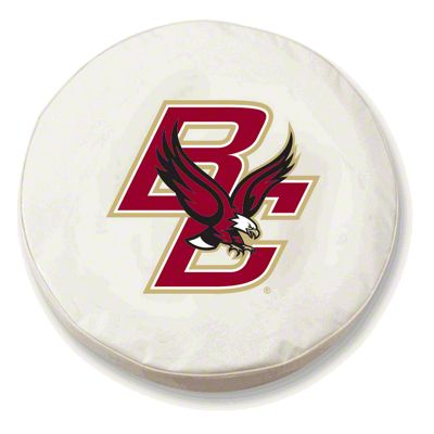 Boston College Spare Tire Cover - White (87-18 Jeep Wrangler YJ, TJ, JK & JL)