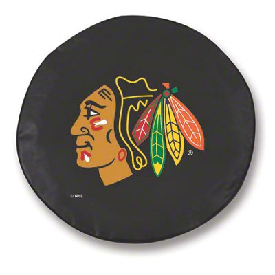 Chicago Blackhawks Spare Tire Cover - Black (87-18 Jeep Wrangler YJ, TJ, JK & JL)