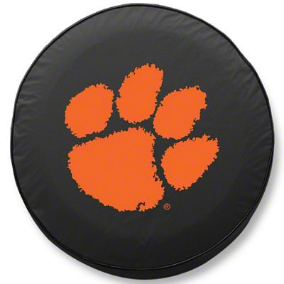 Clemson University Spare Tire Cover - Black (87-18 Jeep Wrangler YJ, TJ, JK & JL)