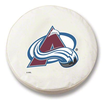 Colorado Avalanche Spare Tire Cover - White (87-18 Jeep Wrangler YJ, TJ, JK & JL)