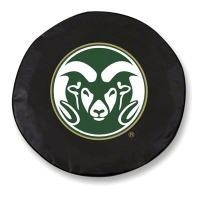 Colorado State University Spare Tire Cover - Black (87-18 Jeep Wrangler YJ, TJ, JK & JL)