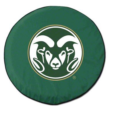 Colorado State University Spare Tire Cover - Green (87-18 Jeep Wrangler YJ, TJ, JK & JL)