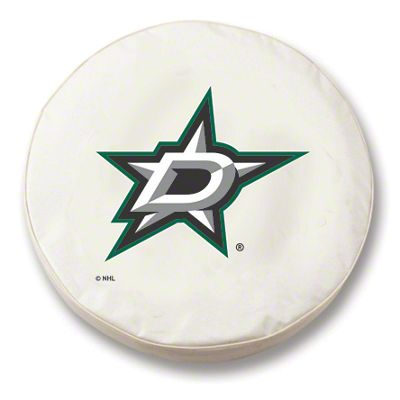 Dallas Stars Spare Tire Cover - White (87-18 Jeep Wrangler YJ, TJ, JK & JL)