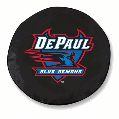 DePaul University Spare Tire Cover - Black (87-18 Jeep Wrangler YJ, TJ, JK & JL)