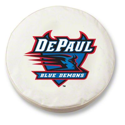 DePaul University Spare Tire Cover - White (87-18 Jeep Wrangler YJ, TJ, JK & JL)