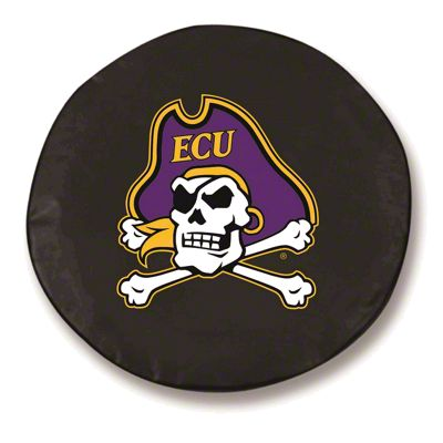 East Carolina University Spare Tire Cover - Black (87-18 Jeep Wrangler YJ, TJ, JK & JL)