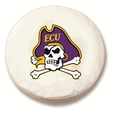 East Carolina University Spare Tire Cover - White (87-18 Jeep Wrangler YJ, TJ, JK & JL)