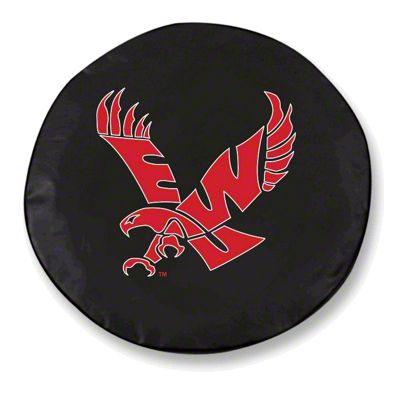 Eastern Washington University Spare Tire Cover - Black (87-18 Jeep Wrangler YJ, TJ, JK & JL)