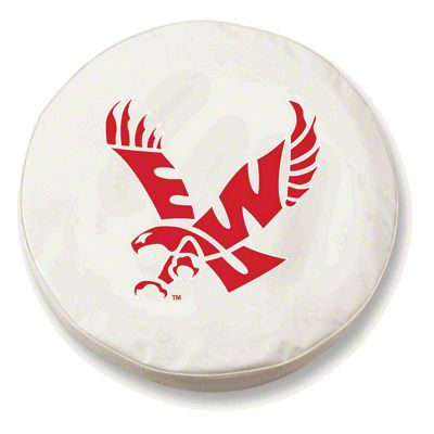 Eastern Washington University Spare Tire Cover - White (87-18 Jeep Wrangler YJ, TJ, JK & JL)