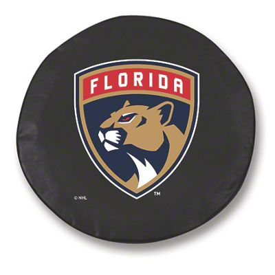 Florida Panthers Spare Tire Cover - Black (87-18 Jeep Wrangler YJ, TJ, JK & JL)