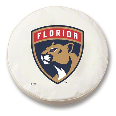 Florida Panthers Spare Tire Cover - White (87-18 Jeep Wrangler YJ, TJ, JK & JL)
