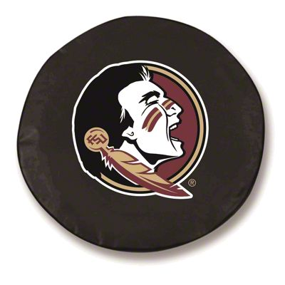 Florida State University Head Spare Tire Cover - Black (87-18 Jeep Wrangler YJ, TJ, JK & JL)