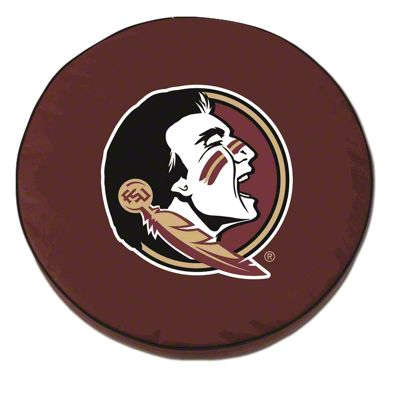 Florida State University Head Spare Tire Cover - Burgundy (87-18 Jeep Wrangler YJ, TJ, JK & JL)