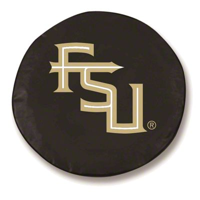 Florida State University Script Spare Tire Cover - Black (87-18 Jeep Wrangler YJ, TJ, JK & JL)