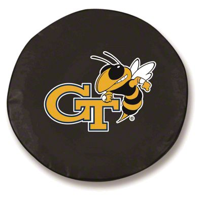 Georgia Tech University Spare Tire Cover - Black (87-18 Jeep Wrangler YJ, TJ, JK & JL)