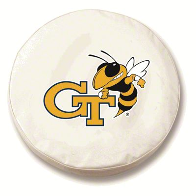 Georgia Tech University Spare Tire Cover - White (87-18 Jeep Wrangler YJ, TJ, JK & JL)