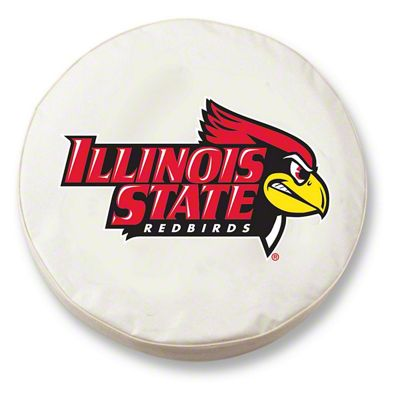 Illinois State University Spare Tire Cover - White (87-18 Jeep Wrangler YJ, TJ, JK & JL)
