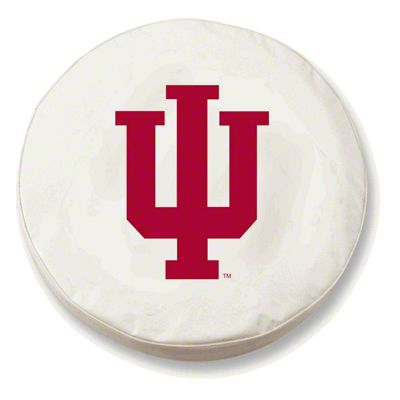 Indiana University Spare Tire Cover - White (87-18 Jeep Wrangler YJ, TJ, JK & JL)