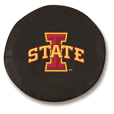 Iowa State University Spare Tire Cover - Black (87-18 Jeep Wrangler YJ, TJ, JK & JL)
