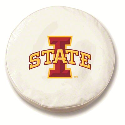 Iowa State University Spare Tire Cover - White (87-18 Jeep Wrangler YJ, TJ, JK & JL)