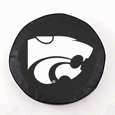 Kansas State University Spare Tire Cover - Black (87-18 Jeep Wrangler YJ, TJ, JK & JL)