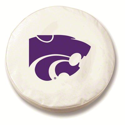 Kansas State University Spare Tire Cover - White (87-18 Jeep Wrangler YJ, TJ, JK & JL)