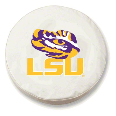 Louisiana State University Spare Tire Cover - White (87-18 Jeep Wrangler YJ, TJ, JK & JL)