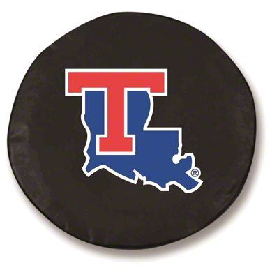 Louisiana Tech University Spare Tire Cover - Black (87-18 Jeep Wrangler YJ, TJ, JK & JL)