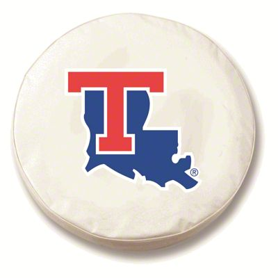 Louisiana Tech University Spare Tire Cover - White (87-18 Jeep Wrangler YJ, TJ, JK & JL)