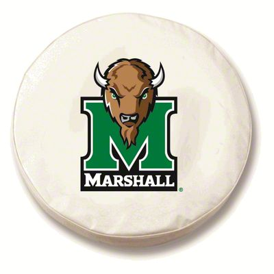 Marshall University Spare Tire Cover - White (87-18 Jeep Wrangler YJ, TJ, JK & JL)