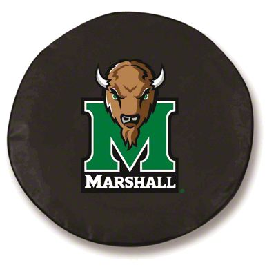 Marshall University Spare Tire Cover - Black (87-18 Jeep Wrangler YJ, TJ, JK & JL)