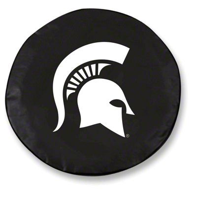 Michigan State University Spare Tire Cover - Black (87-18 Jeep Wrangler YJ, TJ, JK & JL)