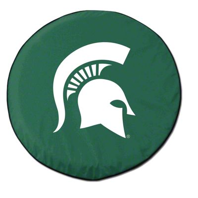 Michigan State University Spare Tire Cover - Green (87-18 Jeep Wrangler YJ, TJ, JK & JL)