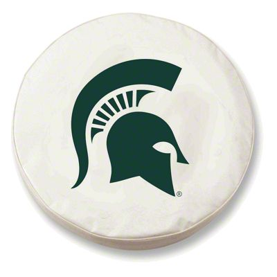 Michigan State University Spare Tire Cover - White (87-18 Jeep Wrangler YJ, TJ, JK & JL)