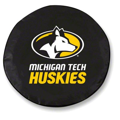 Michigan Tech University Spare Tire Cover - Black (87-18 Jeep Wrangler YJ, TJ, JK & JL)