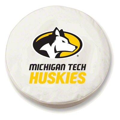 Michigan Tech University Spare Tire Cover - White (87-18 Jeep Wrangler YJ, TJ, JK & JL)