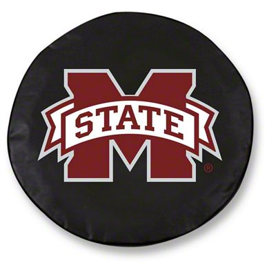 Mississippi State University Spare Tire Cover - Black (87-18 Jeep Wrangler YJ, TJ, JK & JL)