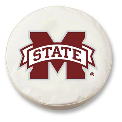 Mississippi State University Spare Tire Cover - White (87-18 Jeep Wrangler YJ, TJ, JK & JL)