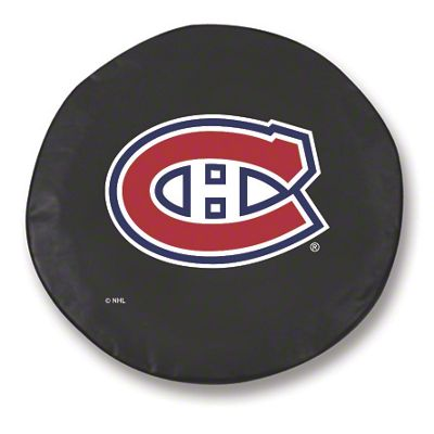 Montreal Canadiens Spare Tire Cover - Black (87-18 Jeep Wrangler YJ, TJ, JK & JL)